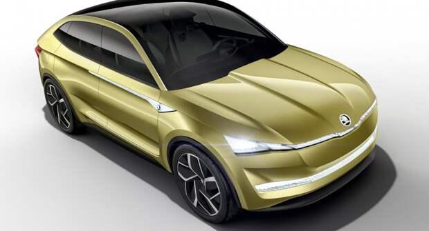 Skoda Vision E —полностью электрифицированный автомобиль чешского бренда