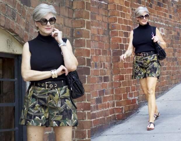 Шикарное лето с шортами в гардеробе женщины 50+