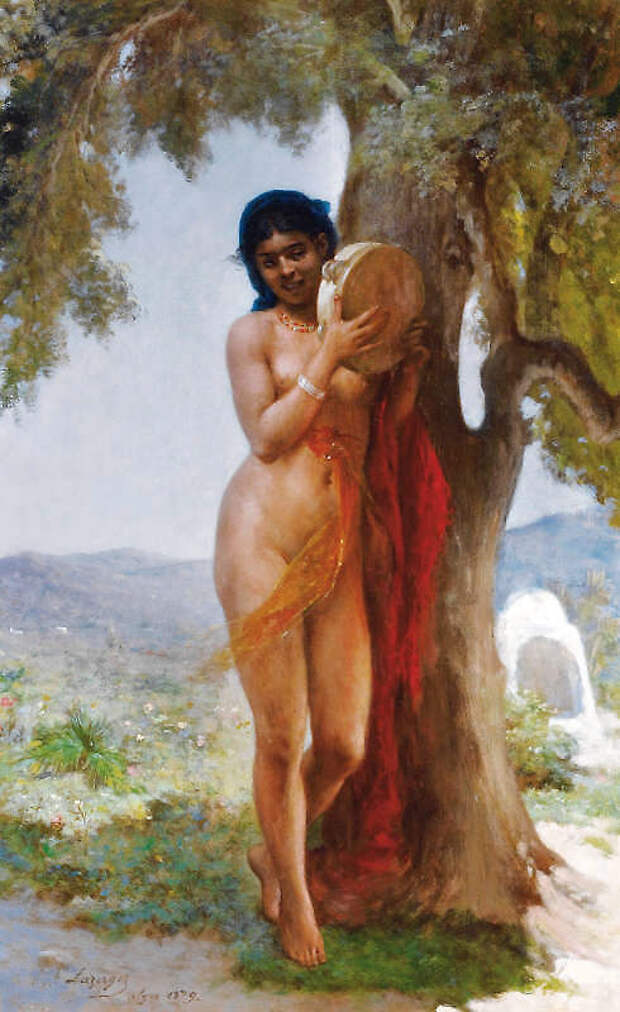 Обнаженная натура в изобразительном искусстве разных стран. Часть 153.