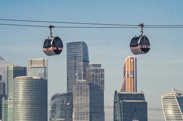 На канатной дороге в Москве установлен мировой рекорд