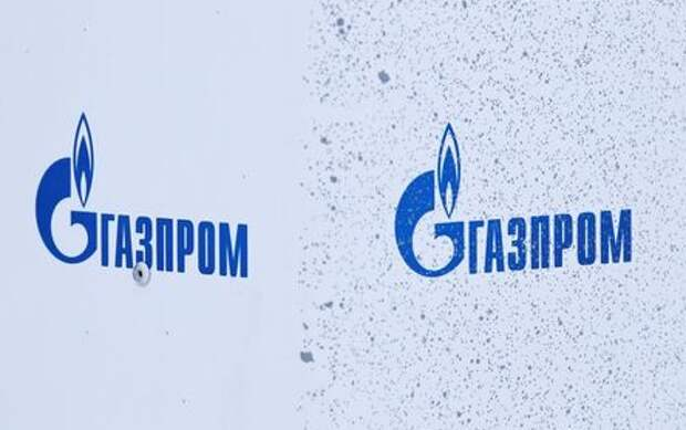 Gazprom logos are on display at Bovanenkovo gas field on the Arctic Yamal peninsula, Russia May 21, 2019. Picture taken May 21, 2019. REUTERS/Maxim Shemetov