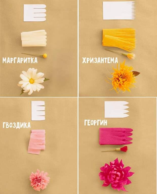 Цветы из бумаги: пошаговые фото + схемы и шаблоны