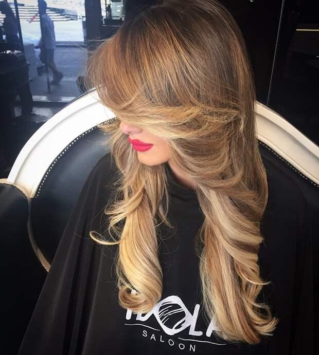 лисий хвост на длинных и средних волосах фото 5