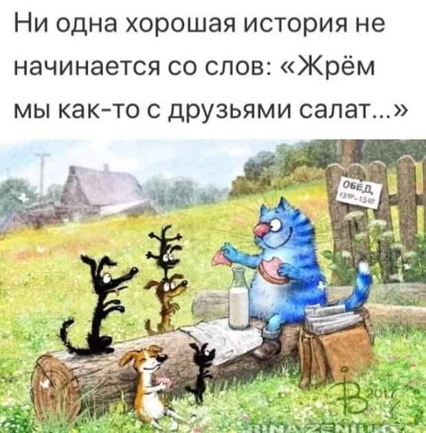 Зима. Ферма в глухом селе. Баба вяжет носки, ейный мужик читает...