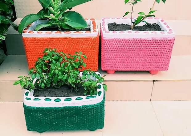Украсить свой сад красивым декором с помощью воздушно-пузырчатой пленки