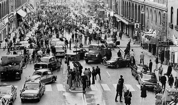Автомобильное движение в Швеции