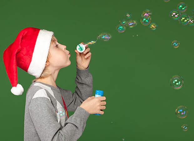 Новый год, мыльные пузыри