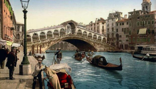 30 цветных фотографий Венеции в 1890‑е годы