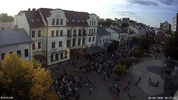 Вчерашний «марш протеста» в Бресте: не больше 500 человек