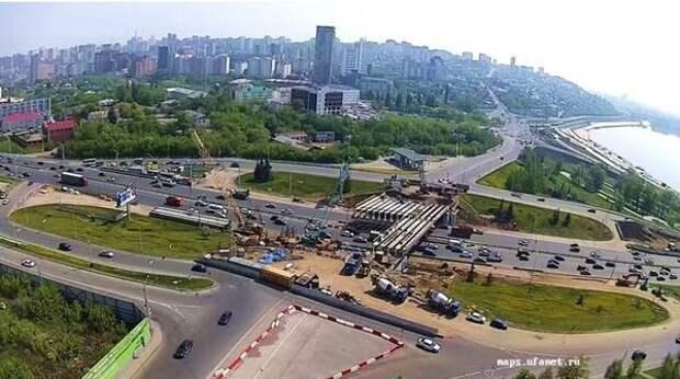 В Уфе продолжается реконструкция транспортной развязки на пересечении проспекта Салавата Юлаева и улицы Заки Валиди