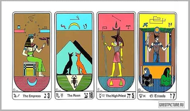 Выберите египетскую карту, чтобы предсказать свою судьбу