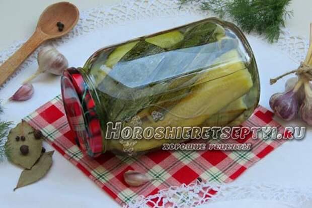 Маринованные кабачки по-болгарски