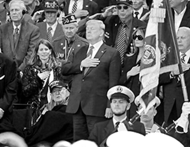 Трамп известен своей любовью к мероприятиям с ветеранами, но только американскими ветеранами