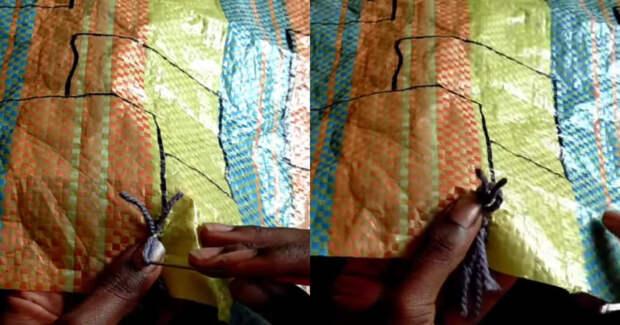 Полезное использования уже не нужных хозяйственных сумок