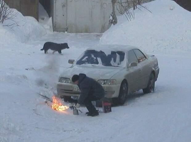 На улице уже -5, при какой температуре не нужно греть двигатель?
