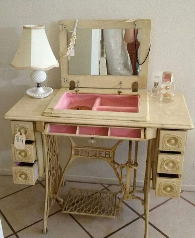 Метаморфозы старой швейной машинки Singer: 7 идей