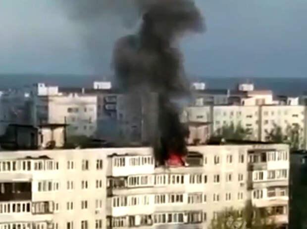 Женщины, брошенные хозяином квартиры во время пожара, выпрыгнули в окно