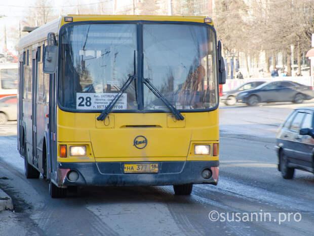 Ижевские автобусы в новогодние праздники будут работать по расписанию выходных дней
