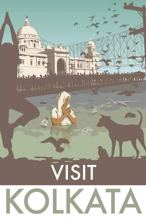 10 честных тревел-плакатов, которые показывают всю правду о стране