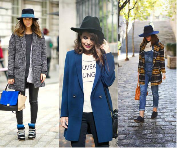 Как выбрать шляпу к одежде: федора и полупальто