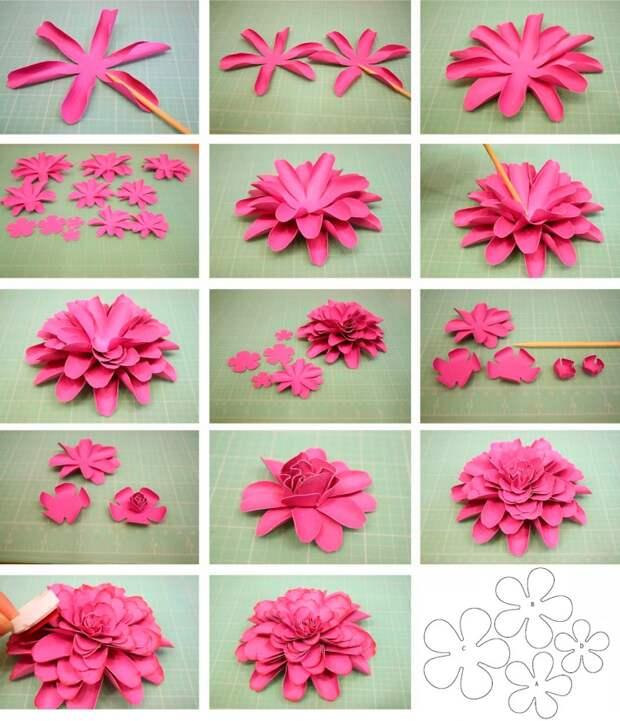 цветы бумага лепесточки