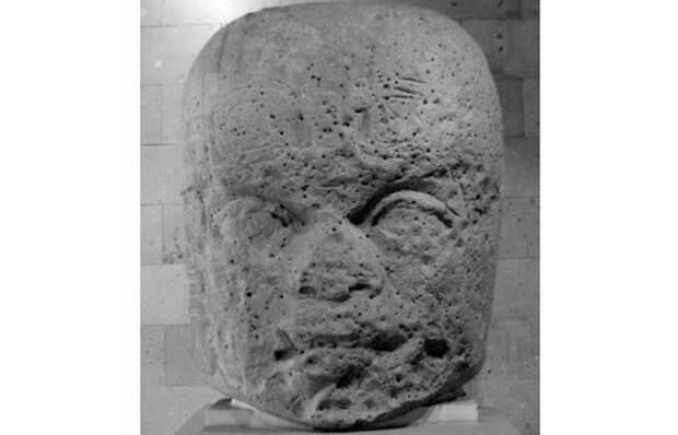 Голова № 7 из Сан-Лоренцо в Музее антропологии в Халапе