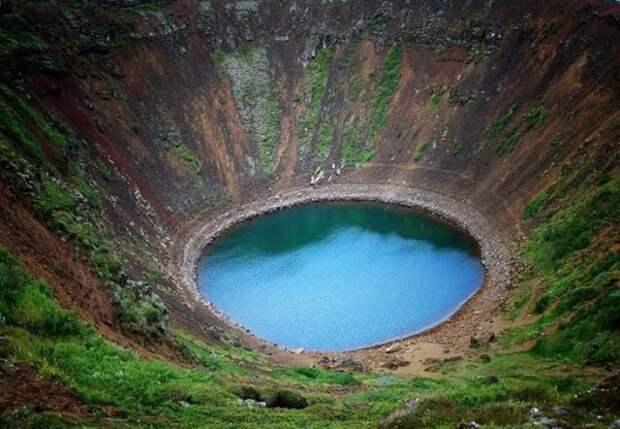 МИР ВОКРУГ. Достопримечательности Исландии. Озеро Керид