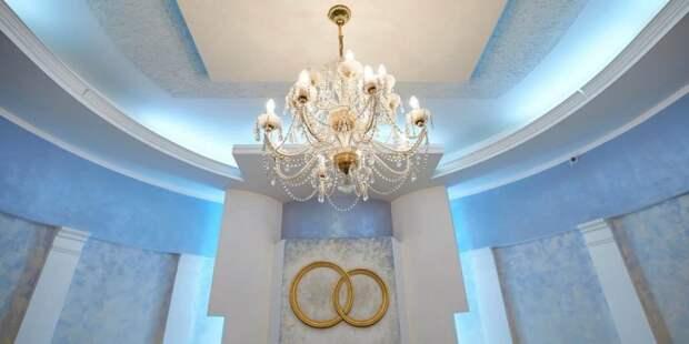 Собянин открыл Дворец бракосочетания на Бутырской улице после капремонта. Фото: М. Денисов mos.ru