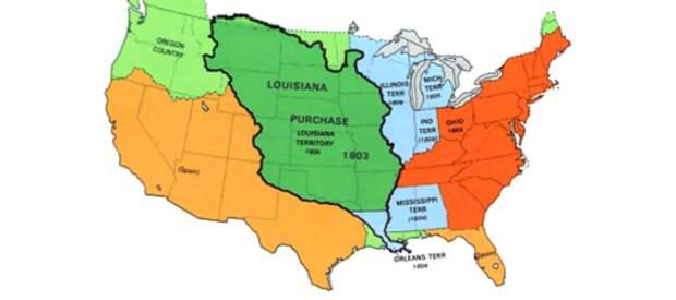 До 1803 года четверть территории США принадлежала Франции