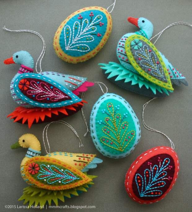 Райские птицы из фетра. Идеи (11) (633x700, 878Kb)