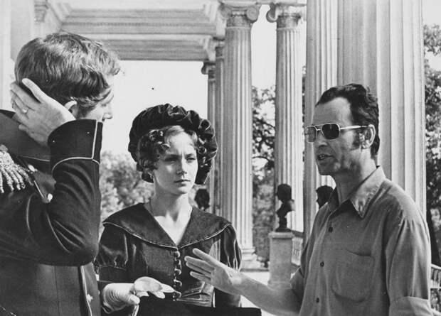 Актриса Ирина Купченко на съемочной площадки советских фильмов.