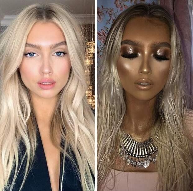 40 уморительных примеров ужасного макияжа