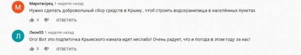Восхищенные чудом Северо-Крымского канала крымчане решили водный вопрос