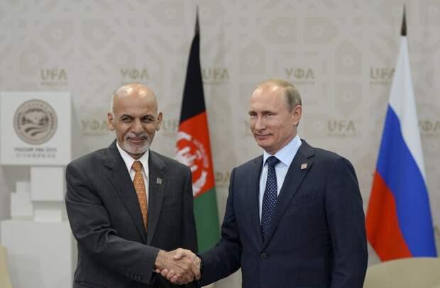 Ашраф Гани и Владимир Путин, визит в Афганистан.