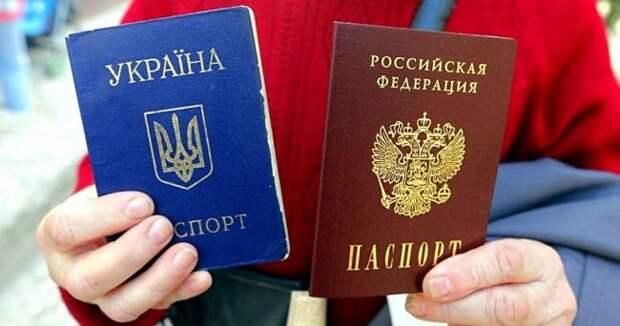 В Украине хотят ввести закон о лишении гражданства за получение паспорта России