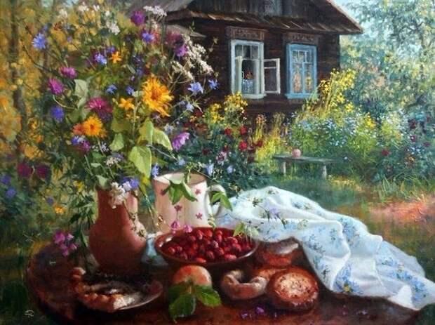Русская деревня в картинах талантливого русского художника Владимира Жданова