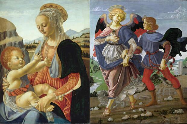 Мадонна с младенцем. Товия с ангелом.