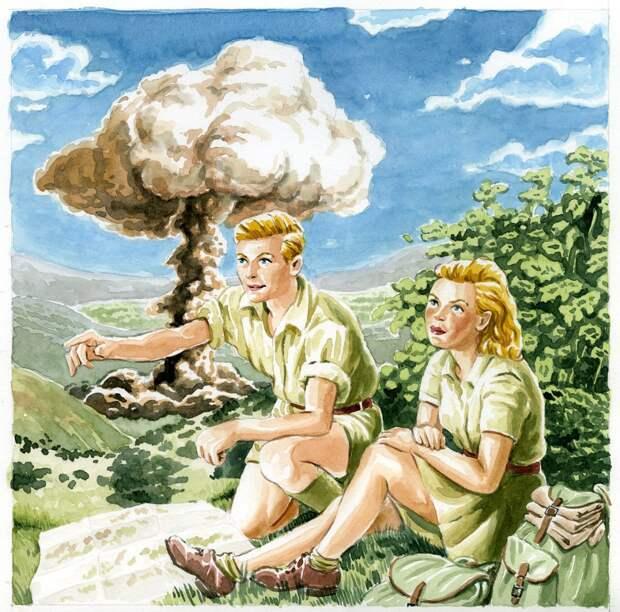 Ядерная угроза в американских иллюстрациях эпохи холодной войны.