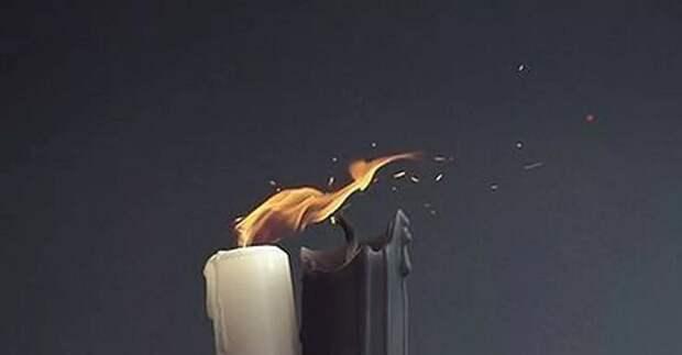 Ритуал на свечи новую жизнь после несчастий и потерь...