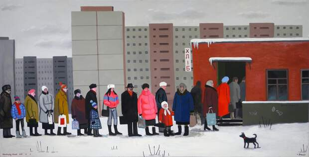 Bread,' Zoya Cherkassky 2015. Oil on linen 120 x 240 cm. Private Collection. (Courtesy of Israel Museum).jpg