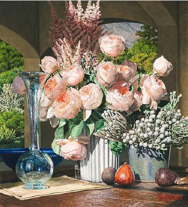 Цветочные натюрморты Эрика Кристенсена. ¦ Фото: livemaster.ru