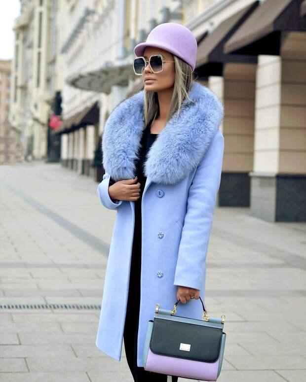 Голубое пальто фото 3