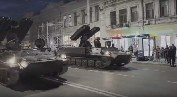 Сегодня центр Симферополя снова перекроют для танков