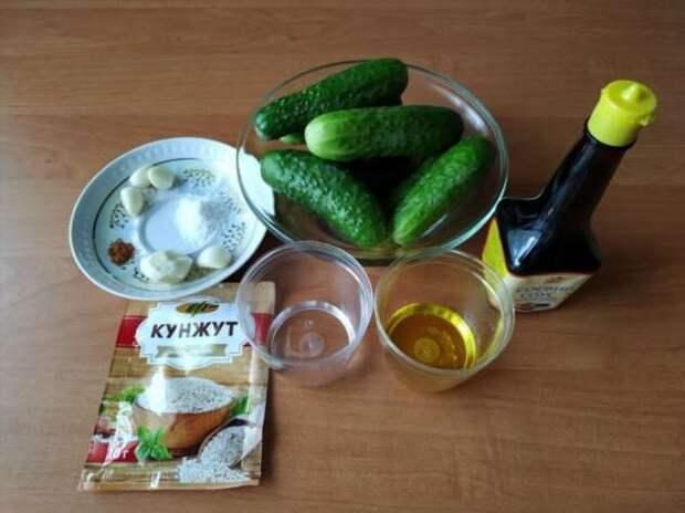 Интересная закуска из обычных огурцов быстрого приготовления! (2 фото + 1 видео)