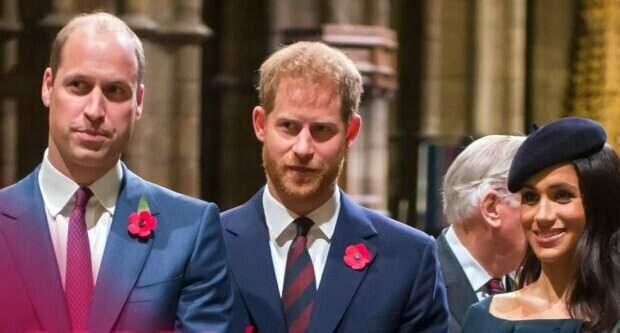 Принц Уильям, Гарри и Меган / экран Youtube @Access