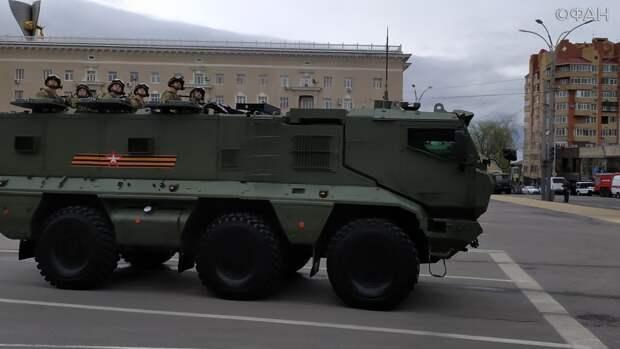 Парад Победы в Ростове прошел на Театральной площади