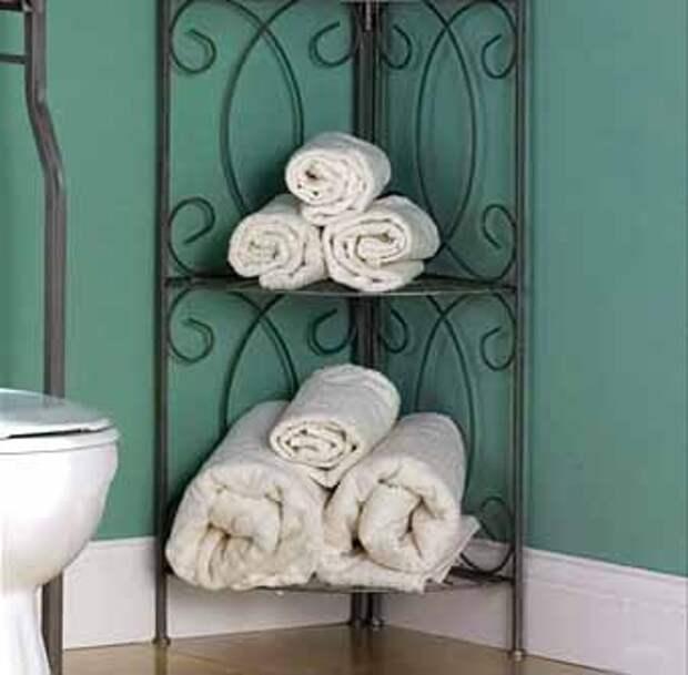 напольные полки для хранения полотенец