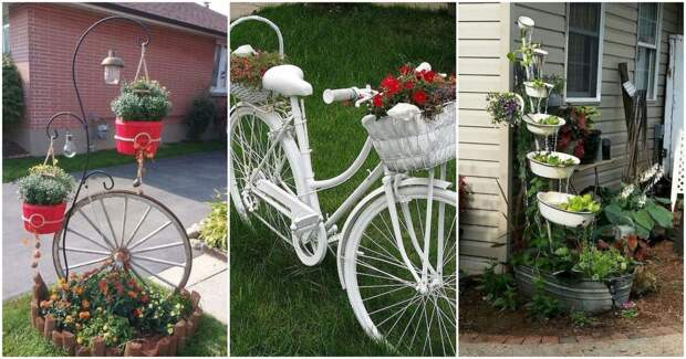 20 креативных украшений для сада, сделанных из старых вещей