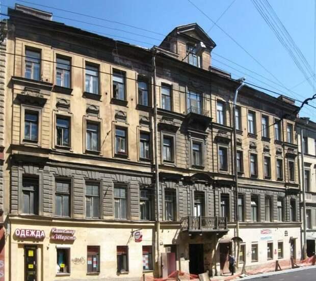 Доходный дом купца Галыбина в Санкт-Петербурге, в котором Гоголь снимал квартиру. /Фото: fiesta.ru