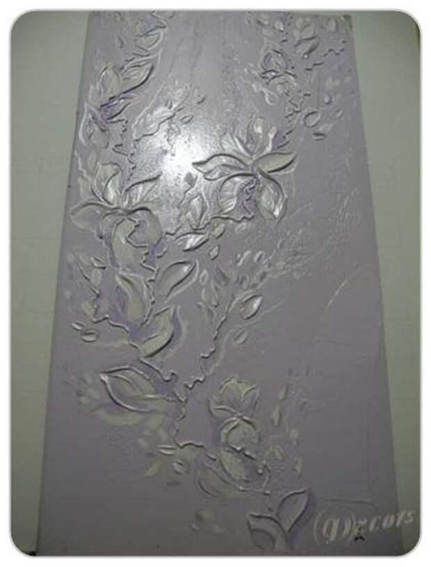 Техника нанесения рельефной - объемной картины. (начальный курс). Пример работы над объёмным панно.
